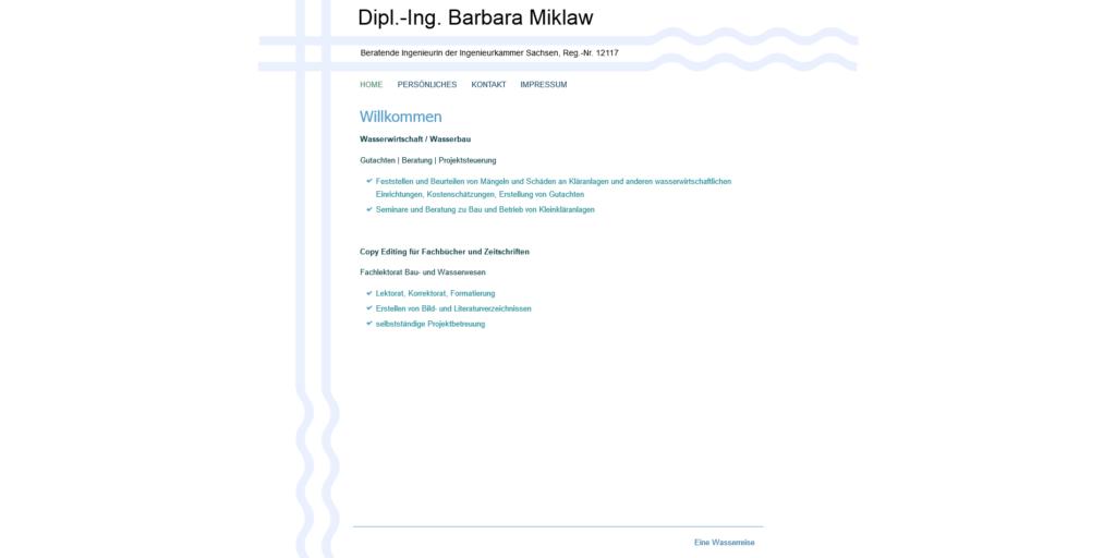 Dipl. - Ing. Barbara Miklaw